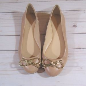 Banana Republic Nude Shoes with Gold Bow